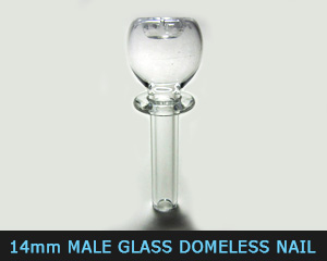 14 mm glass domeless nail