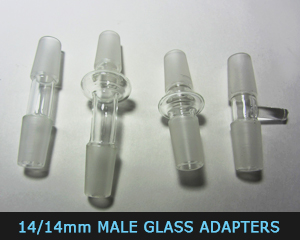 14,14 male glass adapters