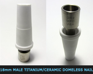18 mm M  titanium,ceramic domeless nail